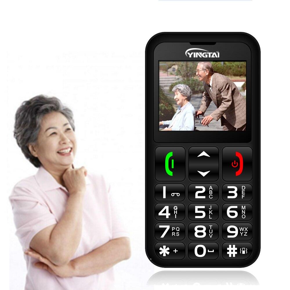 Téléphone portable Senior grand clavier russe haute qualité bouton-poussoir téléphone meilleur pour vieil homme FM torche YINGTAI T11 aîné celulaire