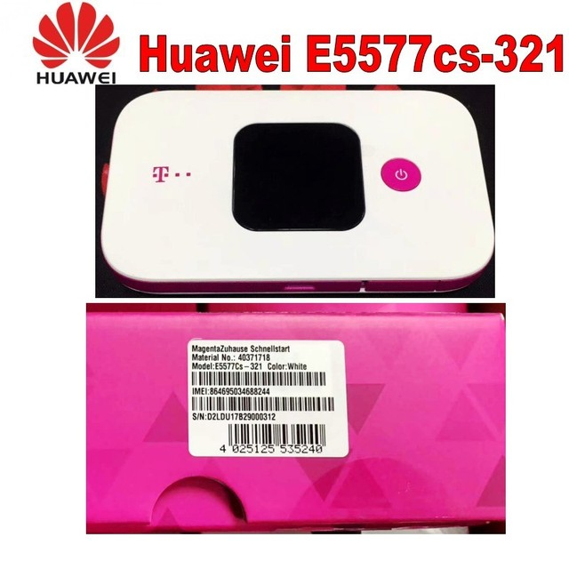 US $52 2 10% OFF| Unlock 4G Wireless LTE Mobile WiFi Router with SIM Card  Slot Huawei E5577Cs 321 -in Modem-Router Combos from Computer & Office on