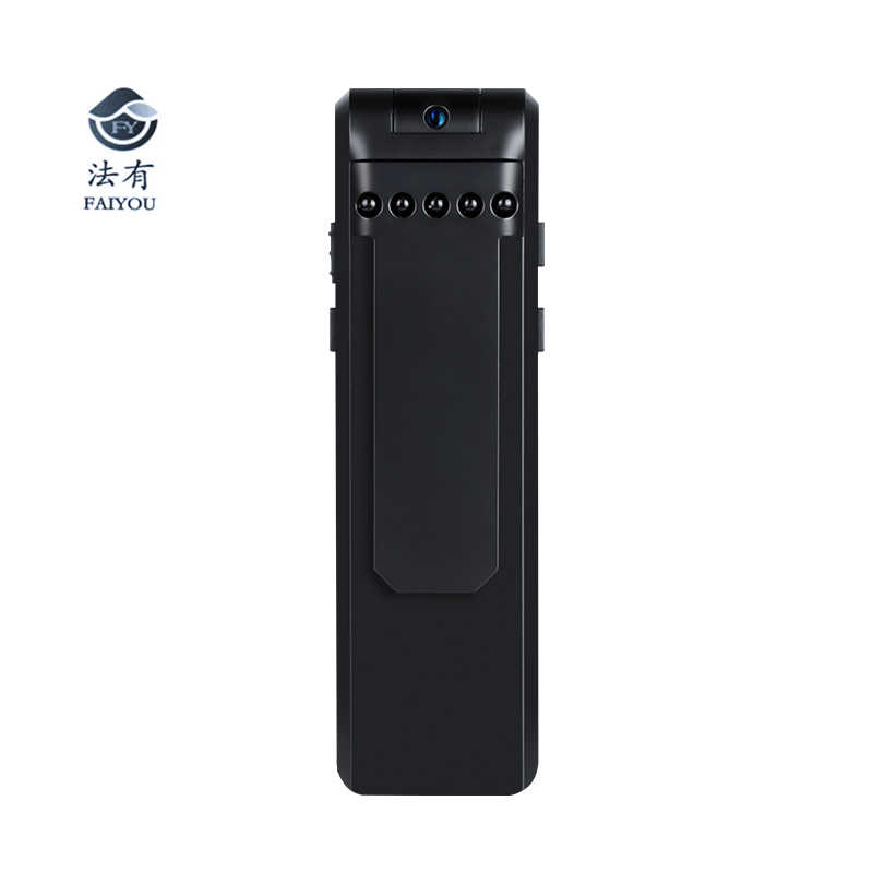 1080P Police Body Lapel Worn Video Camera DVR IR Night Vision Voice Control Digital Pen Recorder 180 Degree Lens Rotation