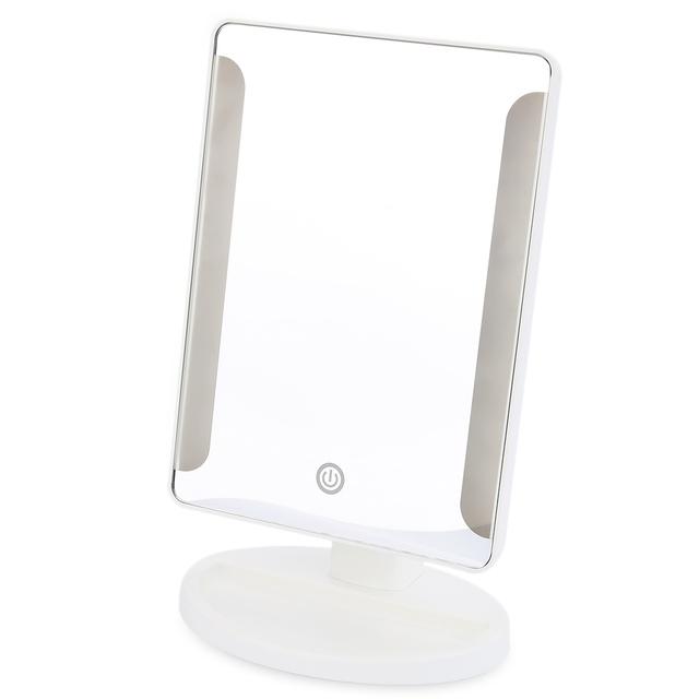Forma de Rectángulo de plástico Moda 36 LED Iluminado Espejo Tocador Plegable Portátil de Alimentación USB Puede Estar En Una Posición Plana