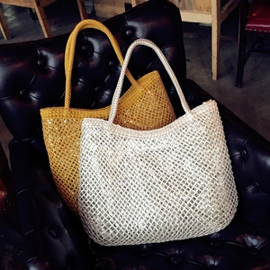 Woven Knitted Bags Women Leath