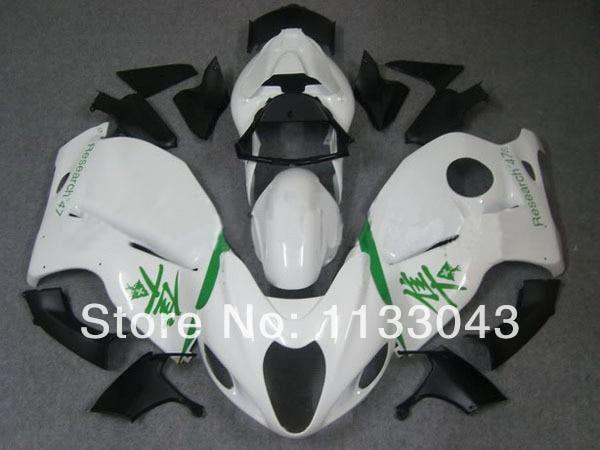 Инъекции для SUZUKI hayabsa GSXR1300 GSX-R1300 GSXR 1300 96 97 98 99 00 01 02 03 04 05 06 07 Все Белый обтекатель