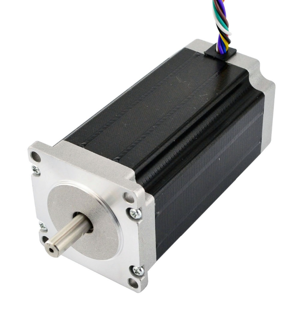 Dual Shaft 8 Leads Nema23 Stepper Motor 1.8deg 2.5Nm(354oz.in) 3A 114mm for CNC Milling MachineDual Shaft 8 Leads Nema23 Stepper Motor 1.8deg 2.5Nm(354oz.in) 3A 114mm for CNC Milling Machine