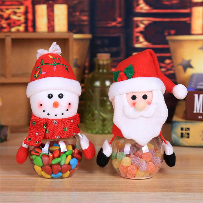 2018 Hot Child Kids Christmas Candy Jar Storage Bottle Santa Bag Sweet Christmas Box Gif free shipping #2n1 (4)