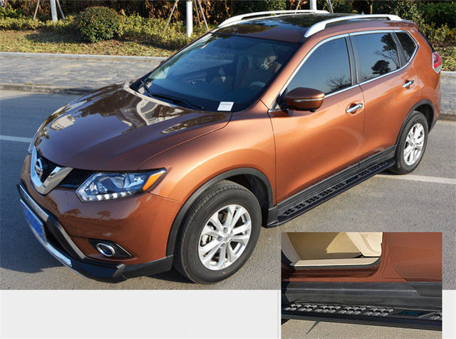 en aluminium pour nissan x trail rogue 2014 2015 2016 2017 marchepied pas de c t nerf bar dans. Black Bedroom Furniture Sets. Home Design Ideas