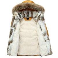 5XL White Duck Down Jacket 2019 Women Winter Goose Feather Coat Long Raccoon Fur Parka Warm Rabbit Plus Size Outerwear WJM19