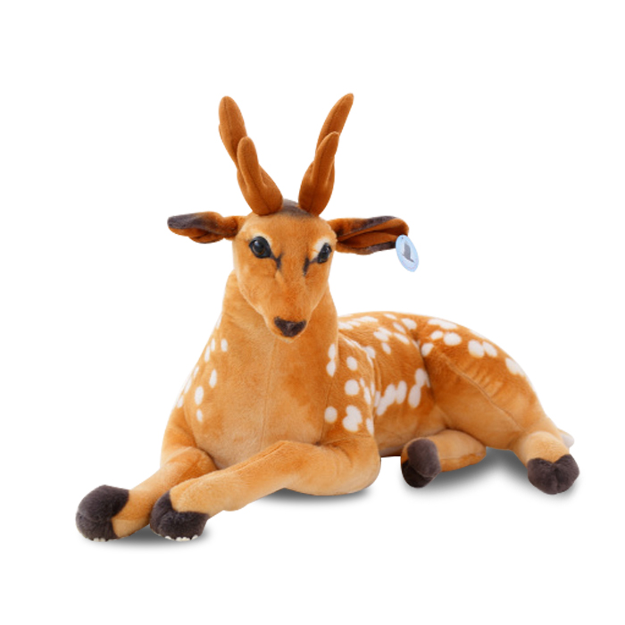 lovely sika deer 85 cm plush toy  simulation deer doll ,Christmas gift x250 fancytrader 47 120cm lovely plush giant stuffed simulation spotted sika deer toy nice decoration free shipping ft50175