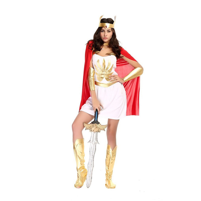 Halloween Costumes for Women Adult Ancient Roman Egypt Female Soldier  Warrior Gladiator Greek Goddess Costume Fantasia