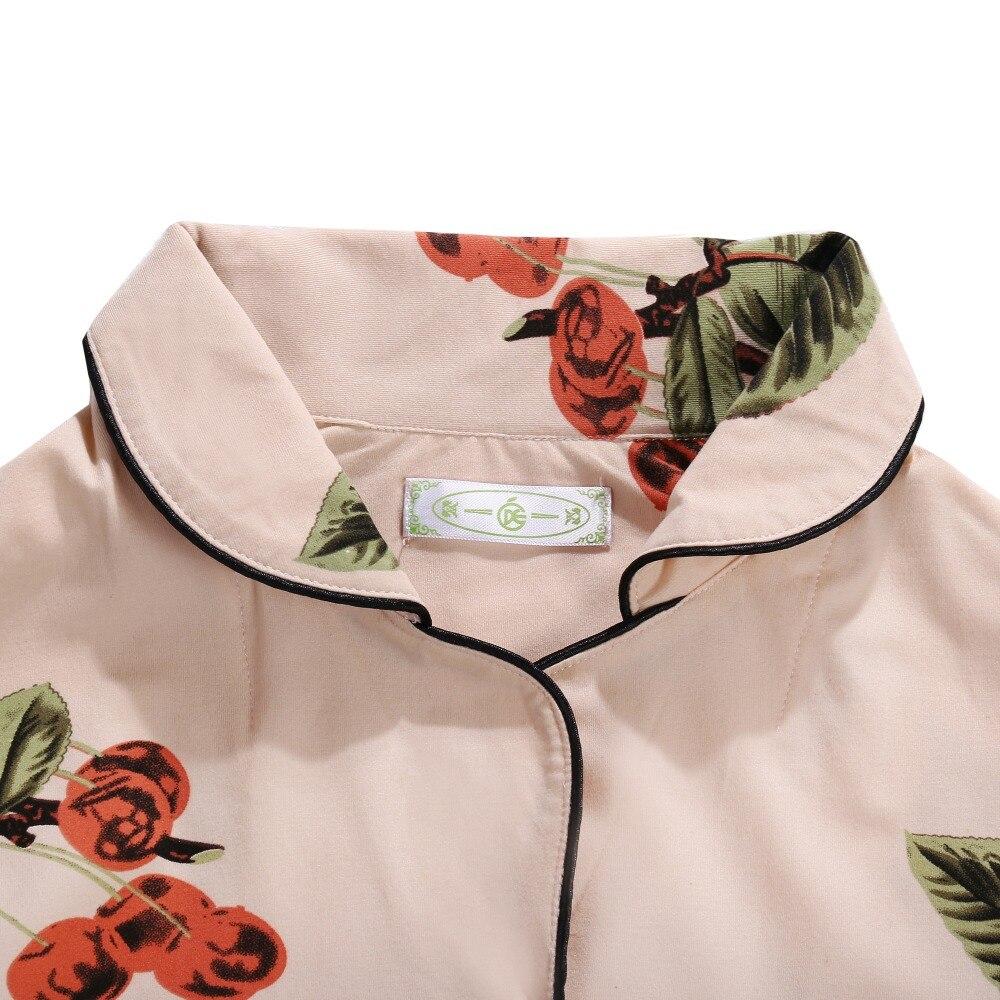 Image 5 - Summer Pajamas Cute Cartoon Print Pajamas Sets For Women Plus Size Nightgown Comfort Ladies Cotton Sleepwear Girls NightclothesPajama Sets   -