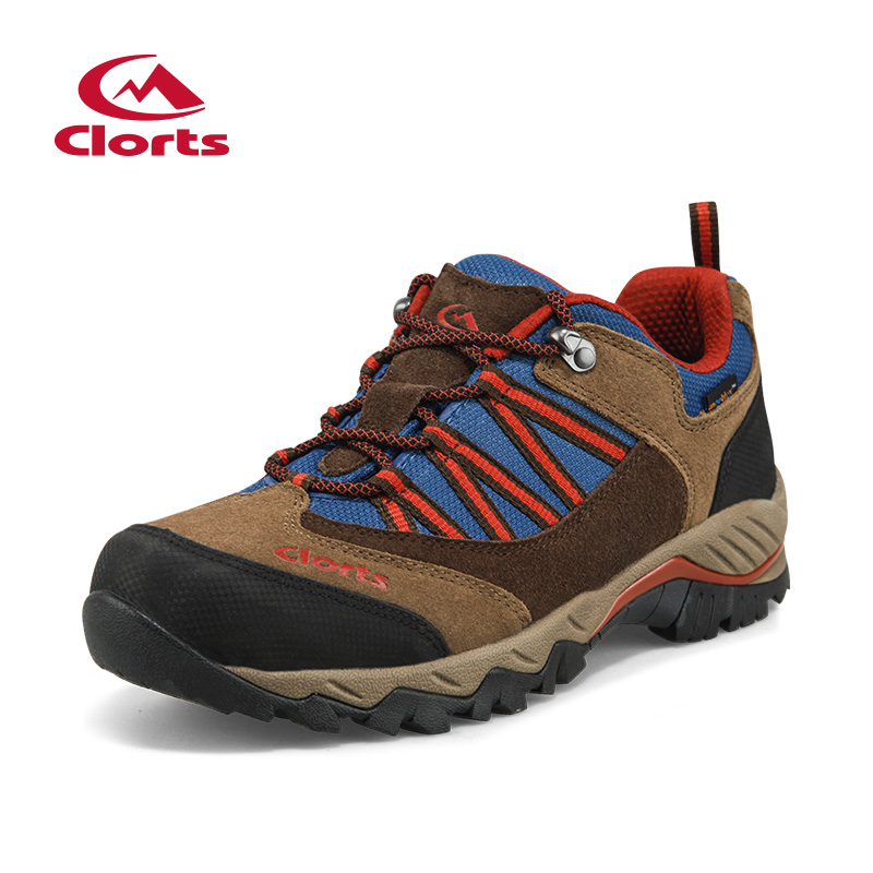 2018 Clorts Mens Hiking Shoes Waterproof Outdoor Mountain Climbing Sports Shoes Color Black Brown Khaki Free Shipping HKL-831B/E multifunctional outdoor sports retractable plastic climbing safety rope black