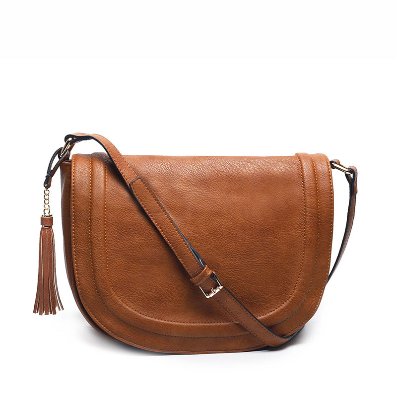 Luxury Sandqvist Womenu0026#39;s Malin Leather Saddle Bag - Cognac Brown