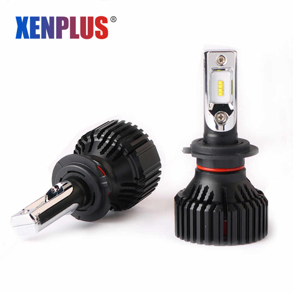 Xenplus 2pcs H7 Led Car Headlight H4 H11 H8 H1 H3 HB3 H27 9005 9006 Lumiled ZES 12V 60W 8000lm E3 Automobile Bulb Auto Fog Lamp