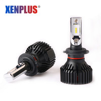 Xenplus 2pcs H7 Led Car Headlight H4 H11 H8 H1 H3 HB3 H27 9005 9006 Lumiled ZES 12V 60W 8000lm E3 Automobile Bulb Auto Fog Lamp
