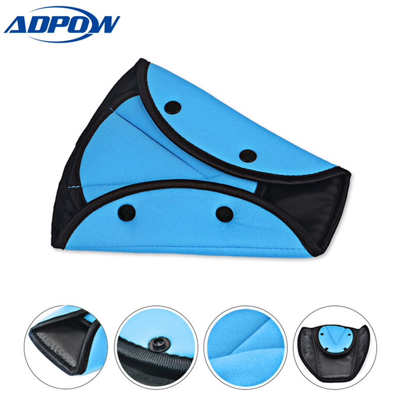Auto Accessories Car Safety Seat Belt Padding Adjuster for Children Kids Baby Car Protection Safe Fit Soft Pad Mat Strap Cover