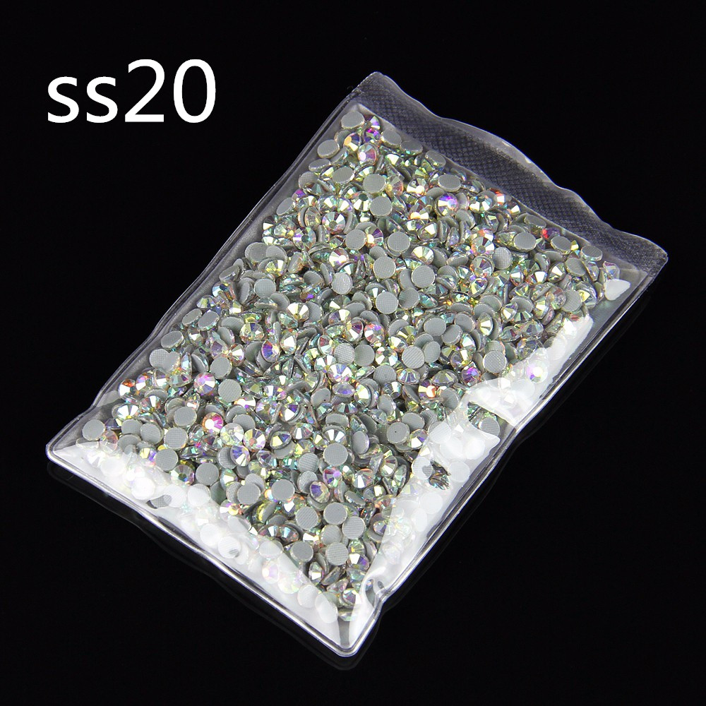 AB Flatback DMC HotFix Stone DIY Rhinestone SS20 Crystal Stone For Phone 100Gross Wholesale