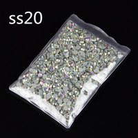 AB Flatback DMC HotFix Stone DIY Rhinestone SS20 Crystal Stone For Phone 100Gross Wholesale !