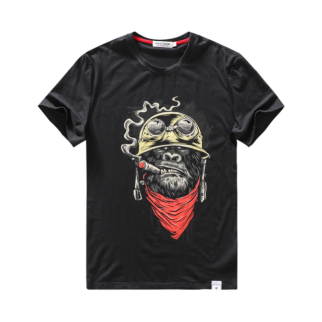 MID-YEAR t-shirt for men funny 2019 Cotton t shirt hip hop Fashion monkey Cartoon gym male casual tee top tshirt large size
