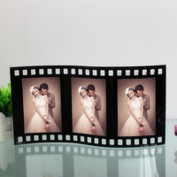 Creative Cinefilm Shaped Desktop Photo Frame Glass Picture Frame with Three Boxes GPF005 3