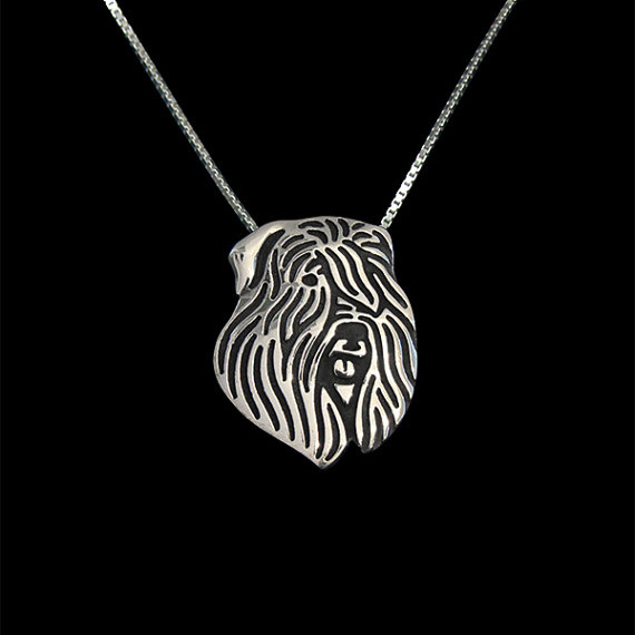 Bouvier des Flandres jewelry - Gold and silver pendant and necklace jewelry Simple abstract animal free ship 12pcs/lot
