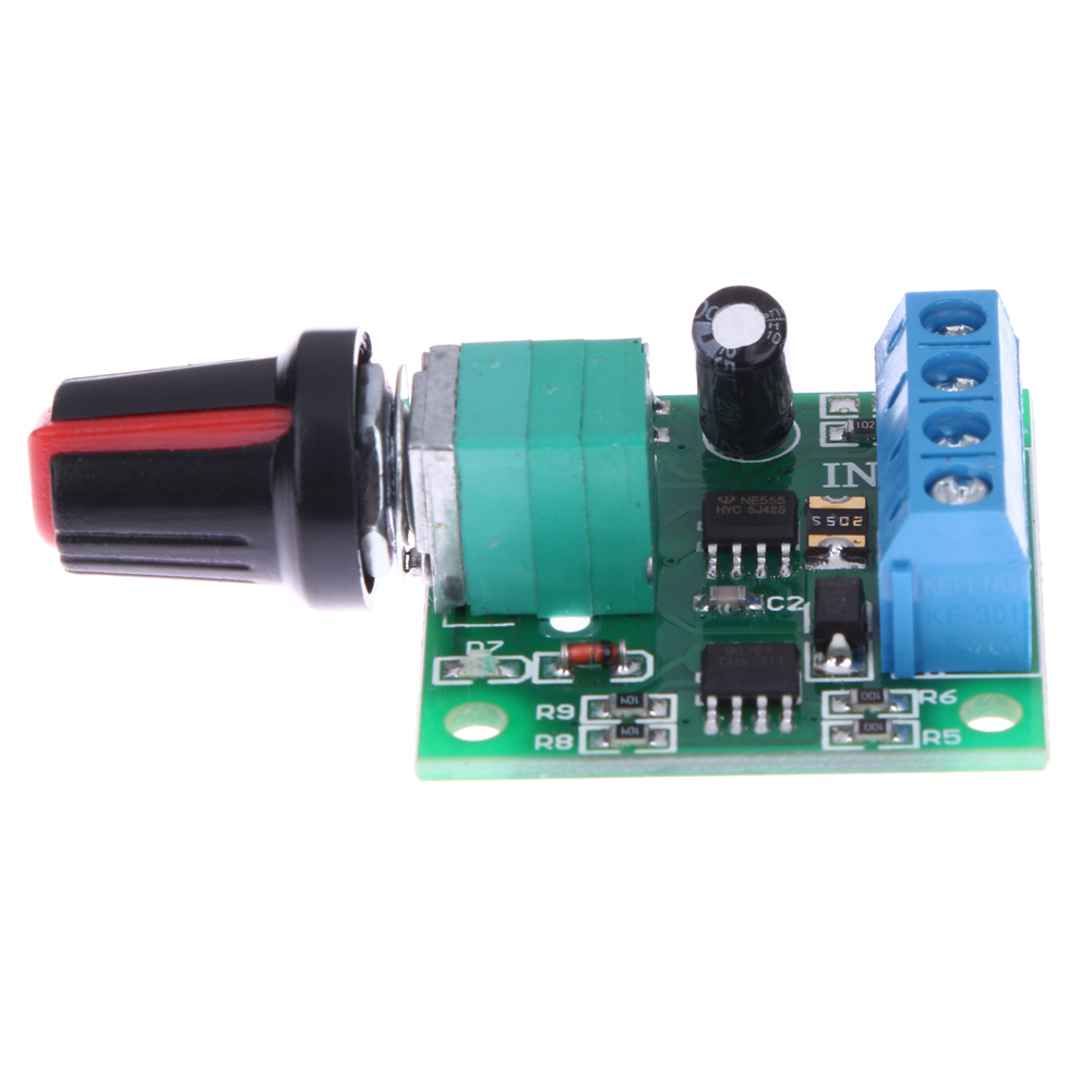 New dc 1 8v 3v 5v 6v 12v 2a pwm motor speed controller low for Low speed dc motor 0 5 6 volt