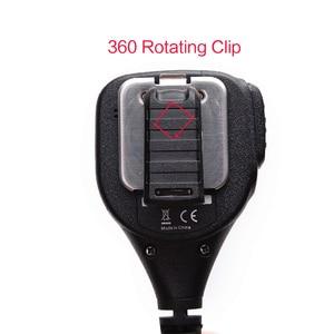 Image 4 - TYT IP54 MD 380 2 Pin PTT Remote Rainproof Shoulder Speaker Mic for TYT MD 380 MD 390 TH UV8000D/E Walkie Talkie MD 380G Radio