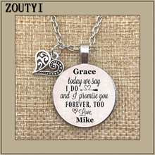 STEP DAUGHTER NECKLACE Step daughter's wedding day necklace today we say I do I also promise you