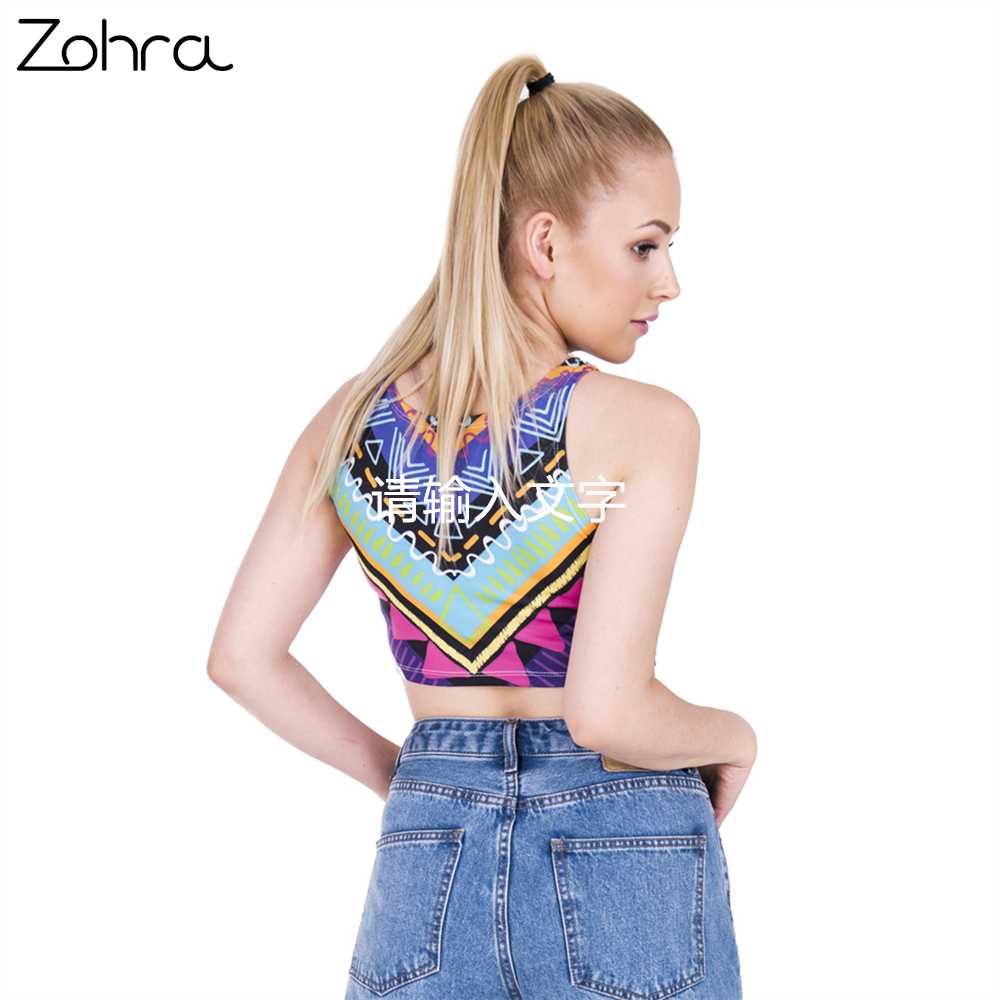 589177ee63 Zohra Fashion Women Crop Top Ethnic Aztec Printing Summer beach Sexy tops  Slim Women Fitness Tank Tops-in Tank Tops from Women s Clothing on  Aliexpress.com ...
