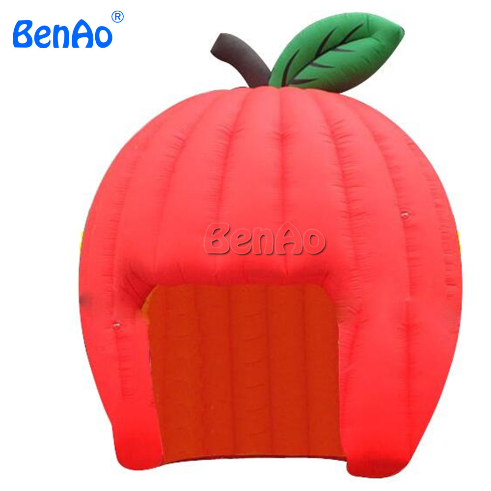 T294 Free shipping+blower Red apple inflatable air igloo dome tent camping display canopy tent blow up/Inflatable Apple Tent igloo island breeze 28 цвет red