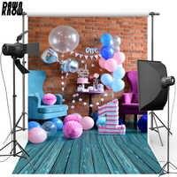 DAWNKNOW ballon pour fête d'anniversaire vinyle photographie fond bois plancher Polyester toile de fond pour enfants photo studio accessoires 2132