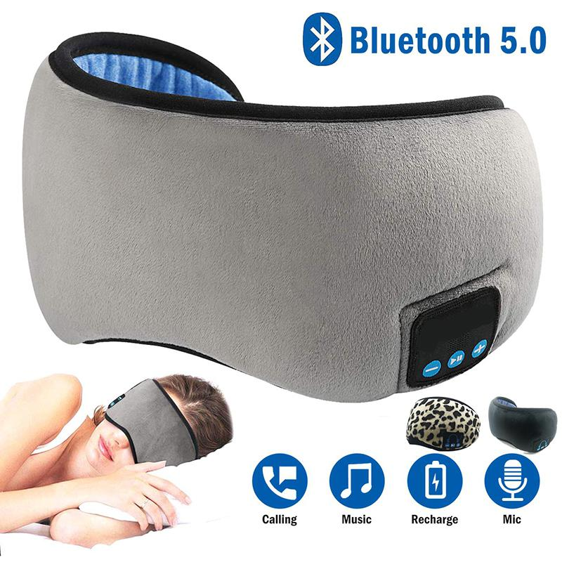 Sleep Headphone Bluetooth Sleep Mask Wireless Sleep Eye Mask Earphone Travel Eye Shades With Built-in Speakers Mic Handsfree D25