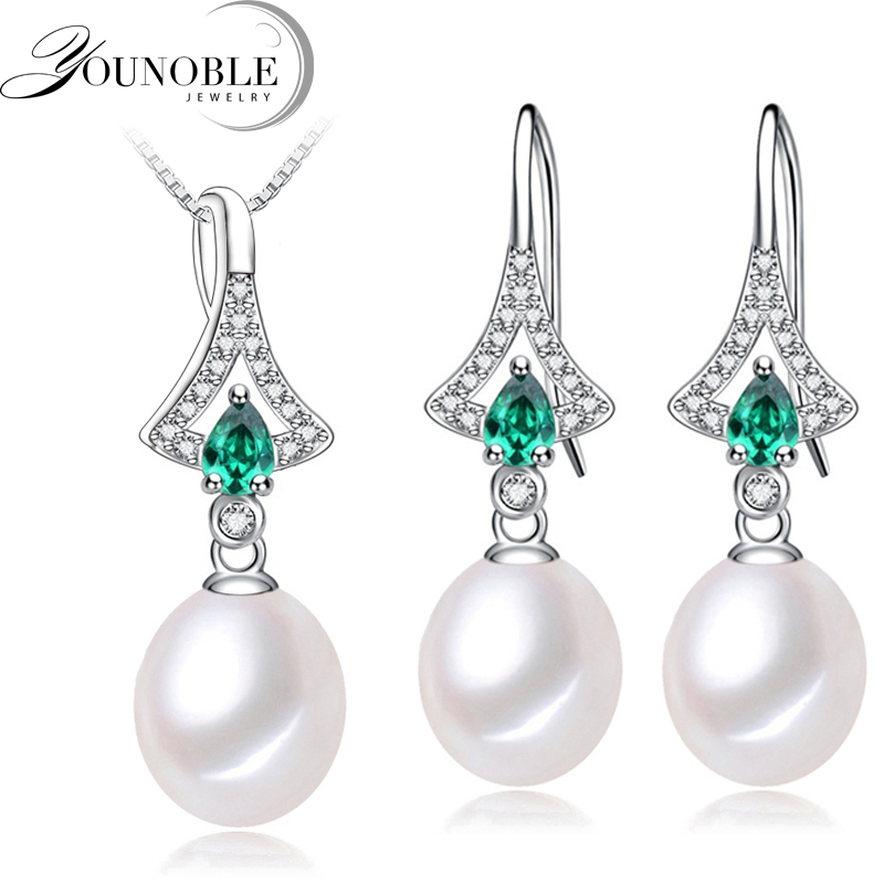 Real Freshwater Pearl jewelry set women,trendy anniversary 925 sterling silver ring jewelry Necklace earring sets real freshwater pearl jewelry set women trendy anniversary 925 sterling silver ring jewelry necklace earring sets