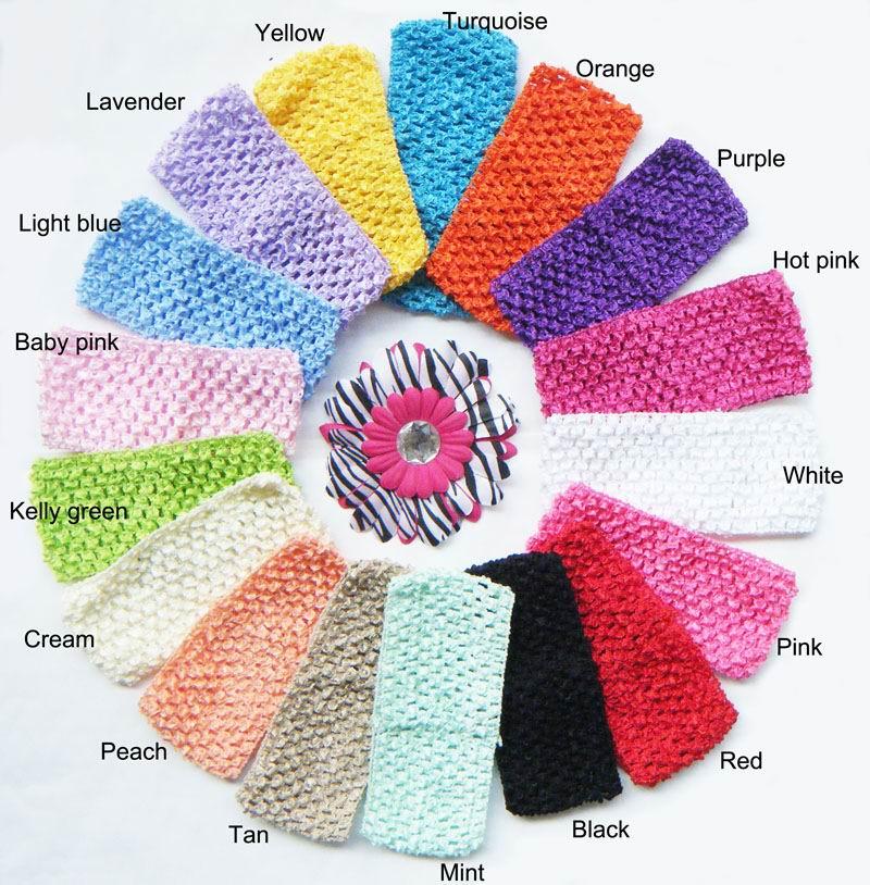 """2,7"""" Широкая вязаная повязка на голову вафельная повязка для малышей 2,75 дюймов 17 горячая распродажа цветов U pick - Цвет: Mixed Colour"""