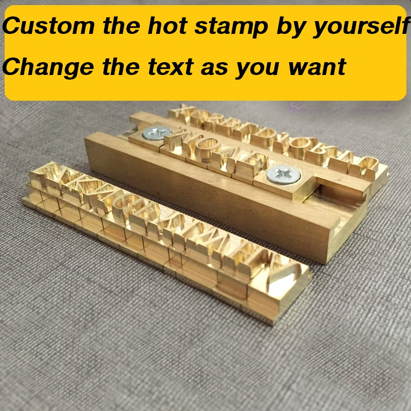 New DIY Custom Hot Brass Stamp Iron Mold By Yourself Personalized Mold Heating On Wood Leather