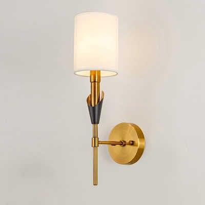 (E14 светодиодный лампочка бесплатно) современный настенный светильник Железный светодиодный настенный светильник для дома/ванная комната/мебель для спальни/мебель для гостиной Декор тканевым абажуром и wandlamp