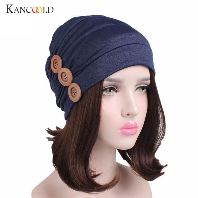Caps Women Hats Knitted Cancer Chemo Hat new Head Wrap Cap Muslim fashion  stylish for femme 9730e8bb6ad