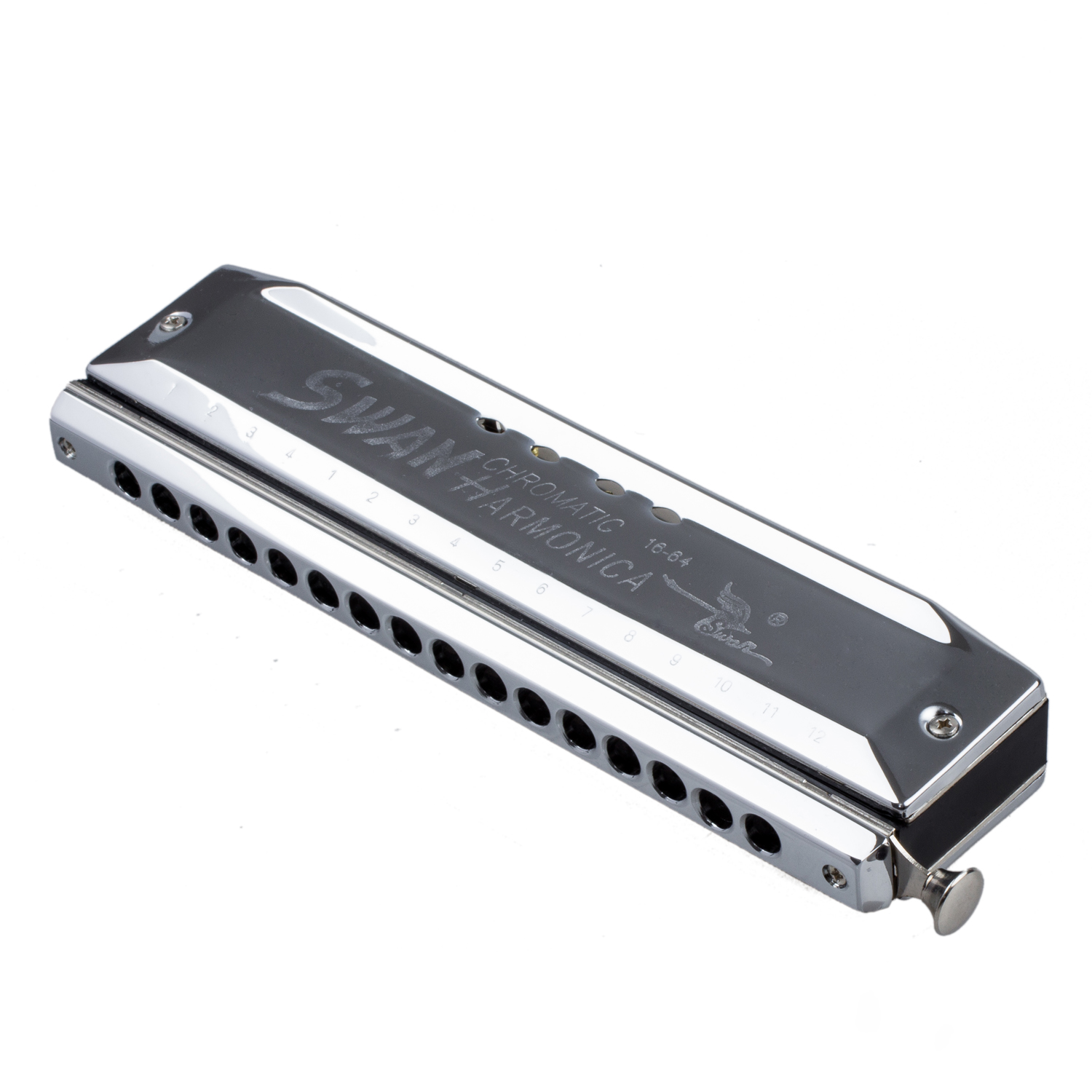 Chromatic Harmonica Silver tone 16 hole 64 Mouth Music Instruments