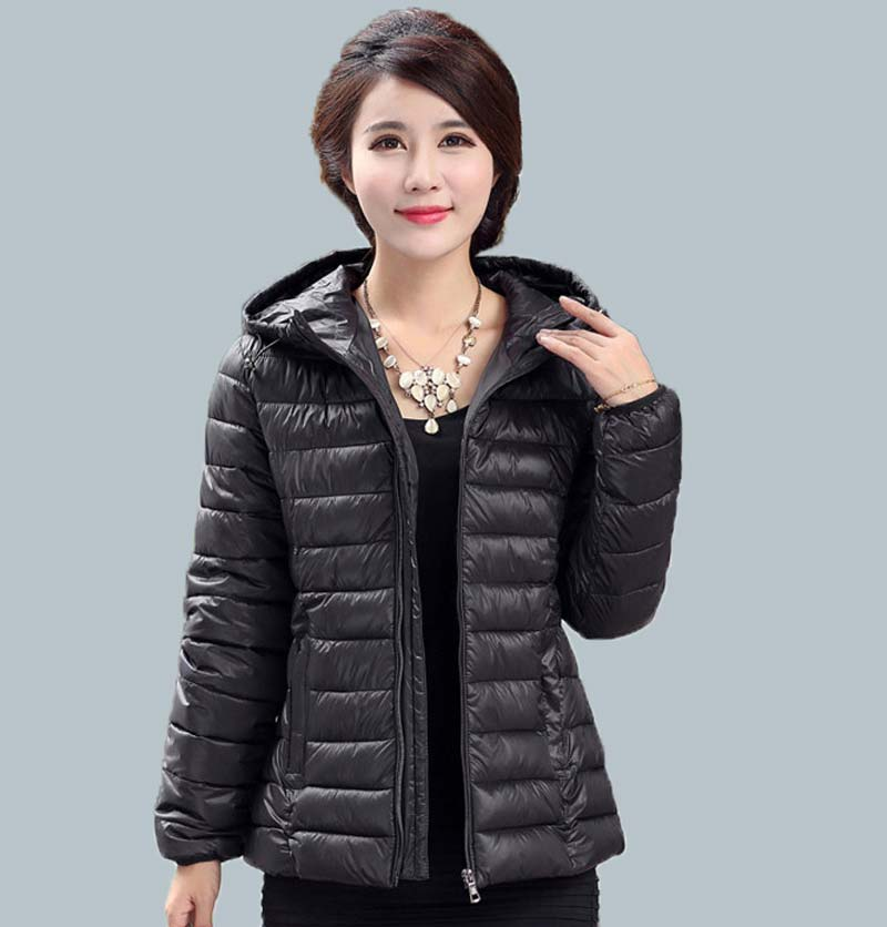 ФОТО autumn Winter women warm plus size coat solid cotton-padded jacket short design slim with hood slim wadded jacket BL1090
