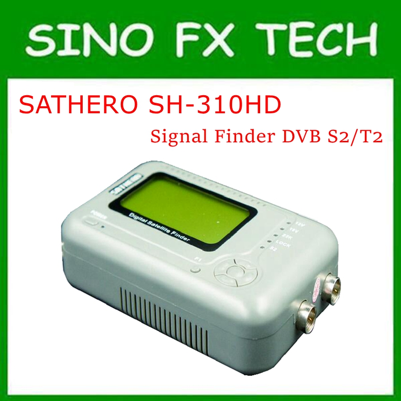 New Arrival SATHERO SH-310HD most cost-effective Combo Signal Finder DVB S2+DVB T2 Digital Satellite Finder SH-310HD sathero sh 200 2 6 dvb s2 dvb s hd digital satellite finder deep grey silver