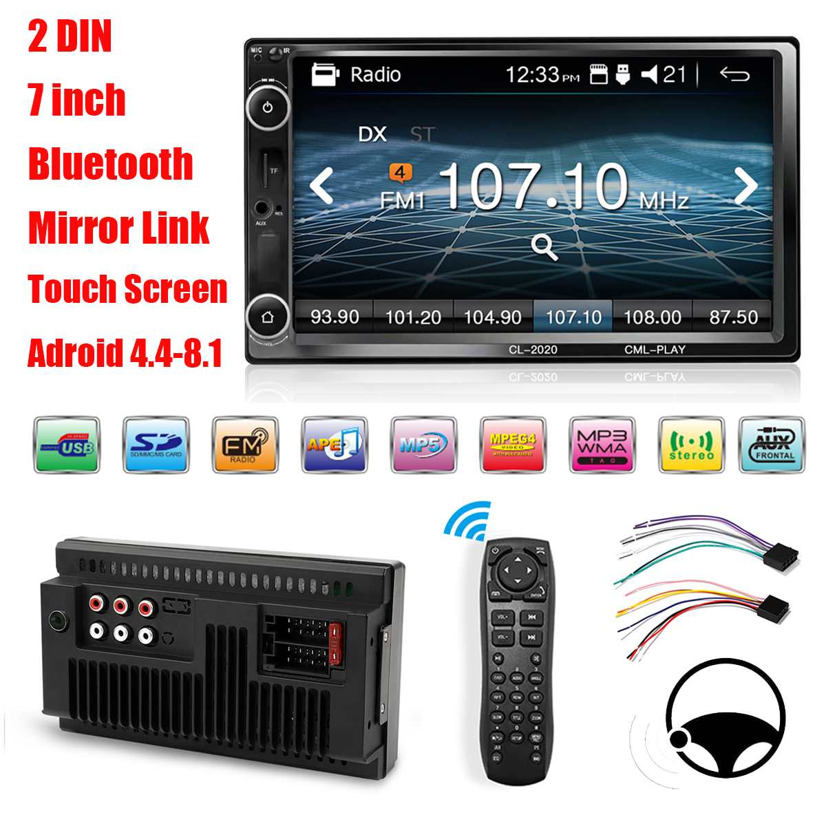7 Double Car Radio Stereo MP5 Player 2 Din bluetooth FM AUX USB Audio Touchable Hands Free Remote Control Car Multimedia Player7 Double Car Radio Stereo MP5 Player 2 Din bluetooth FM AUX USB Audio Touchable Hands Free Remote Control Car Multimedia Player