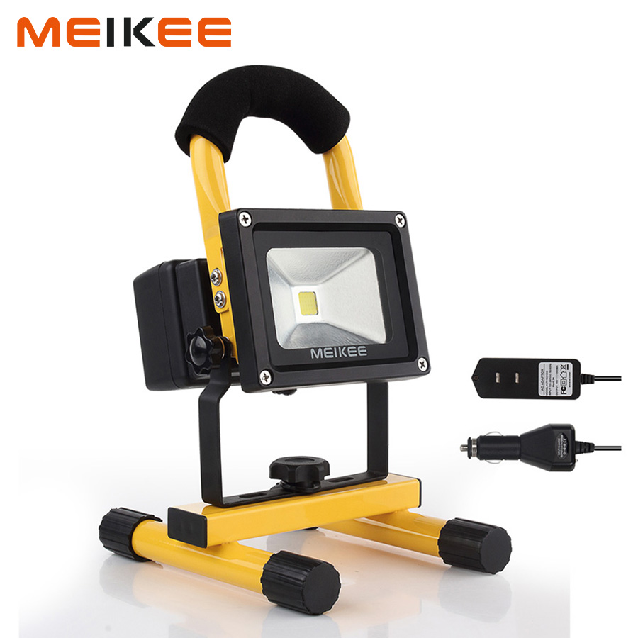 10W Rechargeable LED Work Light 750lm Portable Flood Light 5 Modes Waterproof Outdoor Emergency Light with Adapter+Car Charger10W Rechargeable LED Work Light 750lm Portable Flood Light 5 Modes Waterproof Outdoor Emergency Light with Adapter+Car Charger
