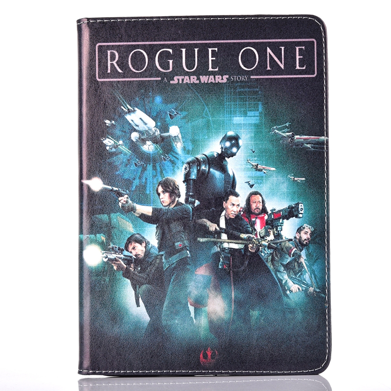 Tablet Case for Apple ipad mini 1 2 3 Flip stand Star Wars ROGUE ONE movie print PU Leather tablet Cover shell coque para capa  for apple ipad mini 4 case flip grape patterns pu leather protective cover rotate tablet pc stand shock resistant coque para