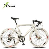 Оригинальный X Front бренд изгиб шоссе дисковый тормоз 700c 14 скорость Дорожный велосипед Алюминиевый сплав bicicleta гоночный велосипед