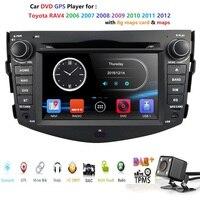 2Din машинный Dvd проигрыватель для Toyota RAV4 2007 2011 комплект с gps навигатором SWC Bluetooth ТВ коробка + камера заднего вида + карта