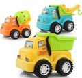 Creative large construction vehicles car inertia simulation hair mixed three children's educational toys