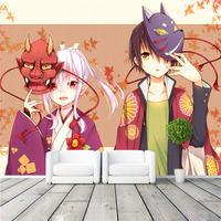 Boys and maple leaf Wall Mural Customize photo wallpaper Japanese anime Wallpaper Autumn scenery Room decor Kid Bedroom TV wall