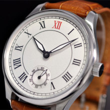 44mm parnis White Dial Leather strap 17 jewels 6498 hand Wind Mechanical men's Watch цены