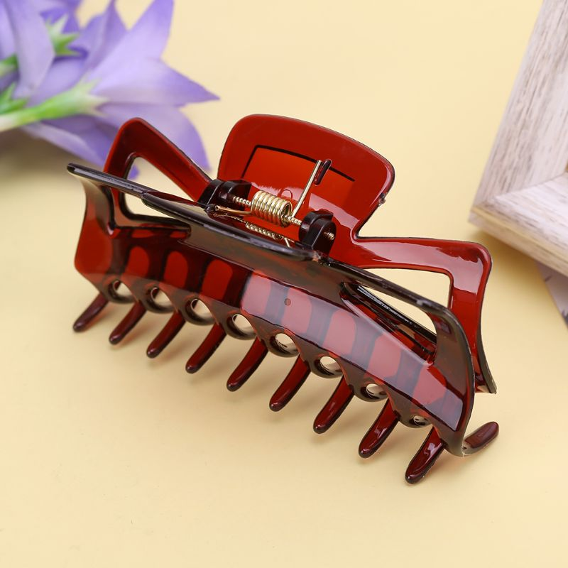 Fashion New 1 Pc Women 11cm Large Hair Clamps Claw Clip Lady Female Casual Big Barrette Crab Hair Claws   Headwear   Accessories