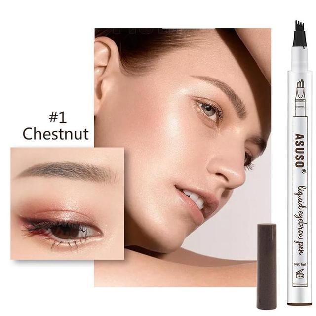 Microblading Eyebrow Tattoo Pen Waterproof Eye Makeup Easy Use Long Lasting Professional Eyebrow Pen Deep Color Pencil Eyebrow 3