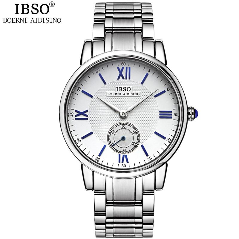 IBSO Top Brand Luxury Mens Relojes 2019 Calidad de Acero Inoxidable - Relojes para hombres