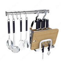 kitchen organizer rack stainless steel kitchen shelf hanging dish rack Cutting Board storage Holder free nail accessories